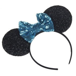 Other - Minnie Mouse Headband with Blue Sequin Bow